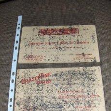 Coleccionismo Papel secante: 2 SECANTES DIFERENTES DE URASEPTINE ROGIER. HENRY ROGIER, PARIS.. Lote 13926041