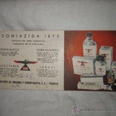 Coleccionismo Papel secante: ISONIAZIDA IBYS. Lote 14385590