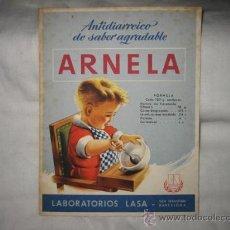 Coleccionismo Papel secante: ANTIDIARREICO DE SABOR AGRADABLE ARNELA. Lote 14385617