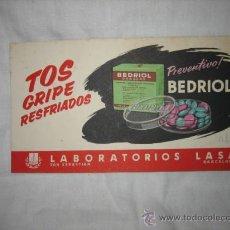 Coleccionismo Papel secante: BEDRIOL TOS GRIPE RESFRIADOS . Lote 14385630