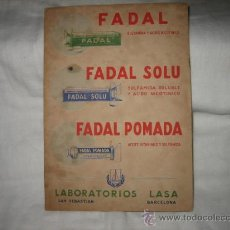 Coleccionismo Papel secante: FADAL.-FADAL SOLU.-FADAL POMADA. Lote 14385684