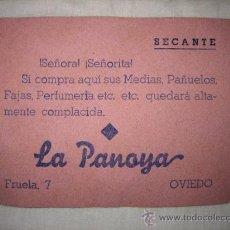 Coleccionismo Papel secante: LA PANOYA FRUELA 7 OVIEDO . Lote 15978288
