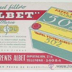 Coleccionismo Papel secante: ANTIGUO SECANTE ROMULO TORRENTS ALBET - PAPEL FILTRO - FARMACIA - MIDE 21,5 X 13 CMS. Lote 18566787