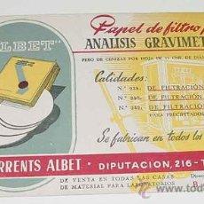 Coleccionismo Papel secante: ANTIGUO SECANTE ROMULO TORRENTS ALBET - PAPEL FILTRO - FARMACIA - MIDE 21,5 X 13 CMS. Lote 18566801