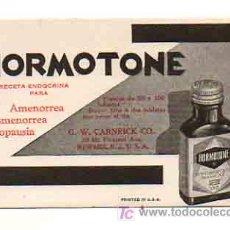 Coleccionismo Papel secante: PAPEL SECANTE CON PUBLICIDAD DE FARMACIA 'HORMOTONE'. USA. . Lote 18962051
