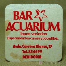 Coleccionismo Papel secante: POSAVASOS, CARTON SECANTE, BAR ACUARIUM, Y VILLA CHICA, BENIDORM, ALICANTE, 1970S. Lote 20280326