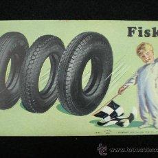 Coleccionismo Papel secante: PAPEL SECANTE. FISK TIRE & CO. AÑOS 20.. Lote 22365954