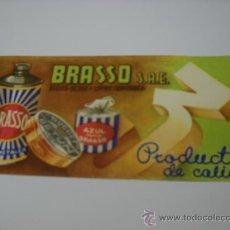 Coleccionismo Papel secante: SECANTE. BRASSO S.A.E. PRODUCTOS DE CALIDAD. DEUSTO-BILBAO - LIMPIAS (SANTANDER) 20X9 CMS.. Lote 23120762
