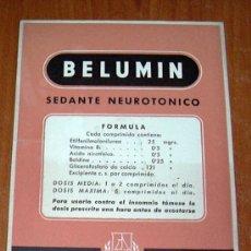 Coleccionismo Papel secante: SECANTE - LABORATORIOS LASA - BELUMIN. Lote 23155531