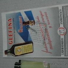 Coleccionismo Papel secante: PAPEL SECANTE PUBLICIDAD FARMACIA GLEFINA . Lote 23460908
