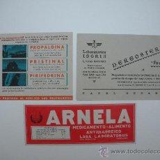 Coleccionismo Papel secante: 3 SECANTES DE PUBLICIDAD DE FARMACIA. Lote 26907547