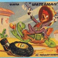 Coleccionismo Papel secante: PAPEL SECANTE. TINTA WATERMAN'S. WATERMAN. EL FRASCO TORTUGA. PANCHITO CARIOCA. WALT DISNEY.. Lote 24611815