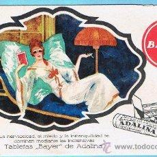 Coleccionismo Papel secante: PAPEL SECANTE TABLETAS BAYER DE ADALINA.. Lote 26428813