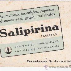 Coleccionismo Papel secante: PAPEL SECANTE DE -SALIPIRINA-. Lote 27183607