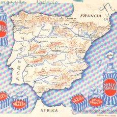 Coleccionismo Papel secante: PAPEL SECANTE PUBLICIDAD AZUL BRASSO LIMPIAMETALES. TAMAÑO: 15 X 12,5CM. PASECA-125. Lote 27537357