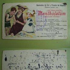 Coleccionismo Papel secante: SECANTE : MENTHOLATUM CREMA PARA QUEMADURAS SOLARES O DE INSECTOS. THE MENTHOLATUM CO. BUFFALO USA. Lote 27748071