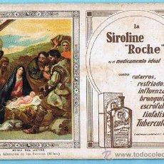 Coleccionismo Papel secante: PAPEL SECANTE LA SIROLINE ROCHE. LA ADORACIÓN DE LOS PASTORES. SIN FECHA.. Lote 28269200