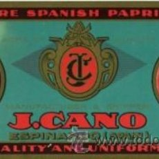 Coleccionismo Papel secante: ESPINARDO (MURCIA).- PIMENTON J. CANO.- TAMAÑO 22 X 9,5 CM.. Lote 28493228