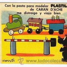 Coleccionismo Papel secante: SECANTE DE PLASTILINE CARAN D,ACHE. Lote 30592226