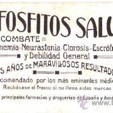 Coleccionismo Papel secante: HIPOFOSFITOS SALUD * CLIMENT Y CIA. -TORTOSA. Lote 30779269