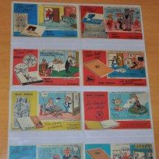 Coleccionismo Papel secante: OCASIÓN SERIE COMPLETA: 12 SECANTES PERSONAJES TEBEO PULGARCITO DE LA EDITORIAL BRUGUERA - AÑOS 60. Lote 30953962