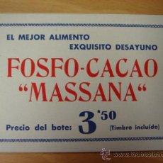 Coleccionismo Papel secante: PAPEL TIPO SECANTE FOSFO-CACAO MASSANA DESAYUNO. Lote 31108565
