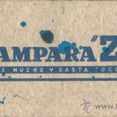 Coleccionismo Papel secante: PAPEL SECANTE LAMPARA Z. Lote 31595550