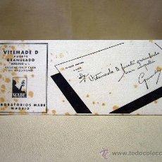 Coleccionismo Papel secante: PAPEL SECANTE, VITEMADE, MADRID, 21 X 8 CM. Lote 32095784