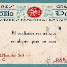 Coleccionismo Papel secante: PAPEL SECANTE, PUBLICIDAD TALLERES GRÁFICOS ANTONIO PORTA. Lote 32111333
