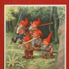 Coleccionismo Papel secante: SECANTE PELIKAN - Nº 431 - DE LA SERIE ENANITOS / LÁPICES DE COLOR - MUY BIEN CONSERVADO. Lote 32273799