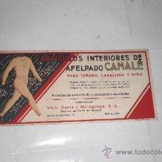 Collezionismo Carta assorbente: VICH,SERRA Y MORAGREGA, S.L RONDA DE SAN PEDRO ,10 BARCELONA. Lote 33566444