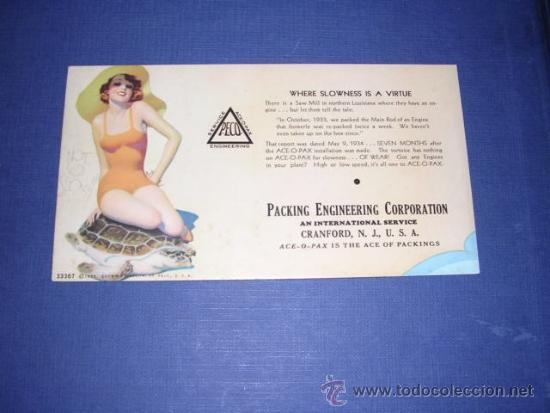 SECANTE - PIN UPS 33367 - USA 1933 BROWM &BIGELOW - PACKING ENGINEERING CORPORATION (Coleccionismo - Papel Secante)