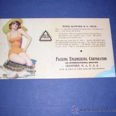 Coleccionismo Papel secante: SECANTE - PIN UPS 33367 - USA 1933 BROWM &BIGELOW - PACKING ENGINEERING CORPORATION . Lote 34138560