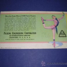 Coleccionismo Papel secante: SECANTE - PIN UPS 33372 - 1933 BROWM & BIGELOW USA PACKING ENGINEERING CORPORATION . Lote 34138627