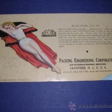 Coleccionismo Papel secante: SECANTE - PIN UPS 33365 -1933 BROWM & BIGELOW USA PACKING ENGINEERING CORPORATION 15,5X8,5 CM. BUEN. Lote 34138688