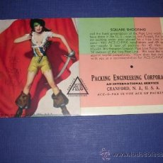 Coleccionismo Papel secante: SECANTE - PIN UPS 33364 -1933 BROWM & BIGELOW USA PACKING ENGINEERING CORPORATION 15,5X8,5 CM. . Lote 34141807