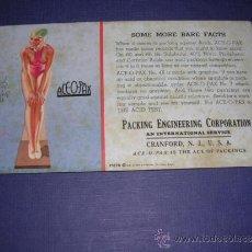 Coleccionismo Papel secante: SECANTE - PIN UPS 35278 -1935 BROWM &BIGELOW USA EARL MORAN ,PACKING ENGINEERING CORPORATION . Lote 34141919