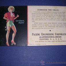 Coleccionismo Papel secante: SECANTE - PIN UPS 35280 -1935 BROWM & BIGELOW EARL MORAN ,PACKING ENGINEERING CORPORATION . Lote 34142117