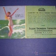 Coleccionismo Papel secante: SECANTE - PIN UPS 35274 -1935 EARL MORAN -BROWM &BIGELOW PACKING ENGINEERING CORPORATION . Lote 34142329