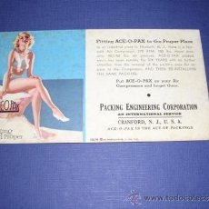 Coleccionismo Papel secante: SECANTE - PIN UPS 35276 -1935 BROWM & BIGELOW .EARL MORAN PACKIMG ENGINEERING CORPORATION . Lote 34142888