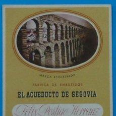 Collectionnisme Papier buvard: PAPEL SECANTE PUBLICITARIO DE `EL ACUEDUCTO DE SEGOVIA´. 15 X 12 CM. Lote 34654269