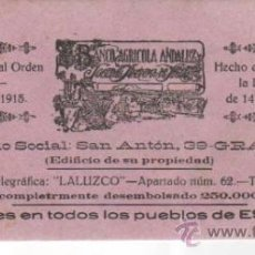 Coleccionismo Papel secante: PAPEL SECANTE, 4 UNIDADES, DEL BANCO AGRÍCOLA ANNDALUZ: SOCIEDAD ANÓNIMA DE SEGUROS. GRANADA. . Lote 36254376