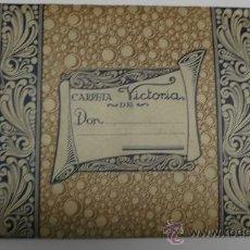 Coleccionismo Papel secante: CARPETA VICTORIA . 40 CARTAS PAPEL RAYADO. CONTIENE 40 SOBRES ,PAPEL SECANTE Y PLUMILLA. Lote 36083373