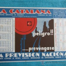 Collezionismo Carta assorbente: LA CATALANA - COMPAÑIAESPAÑOLA DE SEGUROS - 1933. Lote 38386972