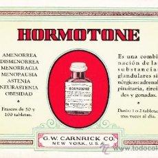 Coleccionismo Papel secante: ANTIQUISIMO PAPEL SECANTE PUBLICIDAD HORMOTONE - SIN USO - EXCELENTE CONSERVACION. Lote 38023399