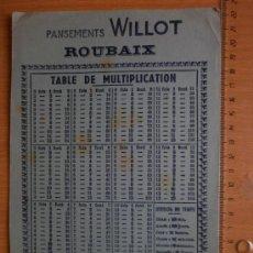 Collezionismo Carta assorbente: PAPEL SECANTE. PANSEMENTS WILLOT. ROUBAIX.. Lote 37193012