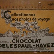 Collectionnisme Papier buvard: PAPEL SECANTE. CHOCOLAT DELESPAUL - HAVEZ. Lote 37265195