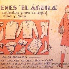 Coleccionismo Papel secante: PAPEL SECANTE ALMACENES EL AGUILA LIT. FABREGA MONACH .BARCELONA . Lote 37859850