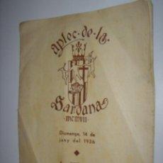 Coleccionismo Papel secante: APLEC DE LA SARDANA DIUMENGE DIA 14 JUNY DEL 1936,3 DIAS ANTES DEL GOLPE DE ESTADO GUERRA CIVIL . Lote 37955877