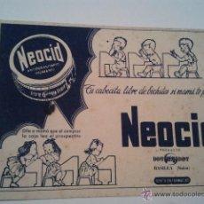 Coleccionismo Papel secante: PAPEL SECANTE NEOCID, BASILEA (SUIZA) . Lote 39945230